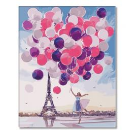SI Ms7544 Painting by numbers - Little girl with balloons