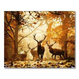 WD H001 Painting by numbers - Forest deer
