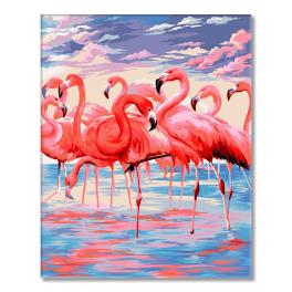 WD H112 Painting by numbers - Pink lake
