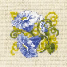 RIO 1842 Cross stitch kit with yarn - Purple bindweed