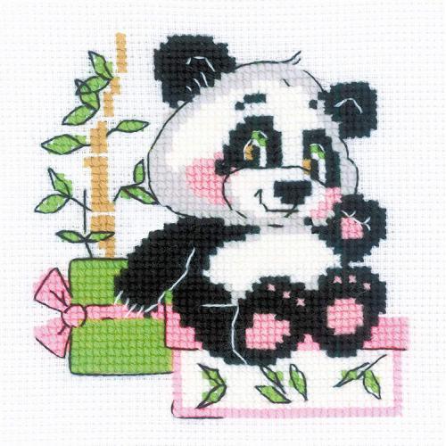 RIO 1883 Cross stitch kit with yarn - Panda gift