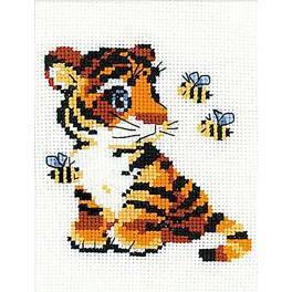 RIO HB092 Cross stitch kit with yarn - Stripes