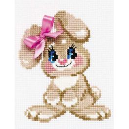 RIO HB105 Cross stitch kit with yarn - Baby rabbit
