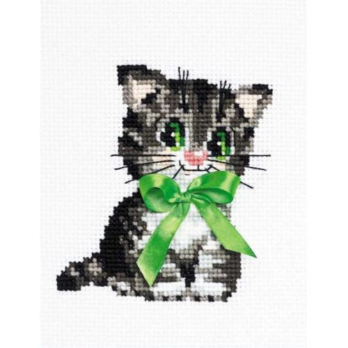 RIO HB104 Cross stitch kit with yarn - Little bow