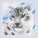 RIO 1886 Cross stitch kit with yarn - Snow leopard