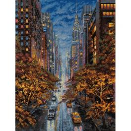 MER K-172 Cross stitch kit - Autumn in a big city