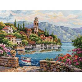 MER K-175 Cross stitch kit - Lago di Como
