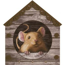 NKO 4044 Cross stitch kit with printed background - Mouse