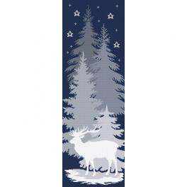K 10646 Tapestry canvas - Snow deer
