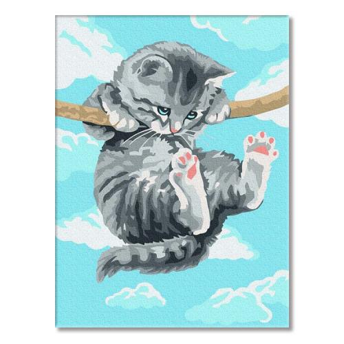 PC3040021 Painting by numbers - Kitten on a branch