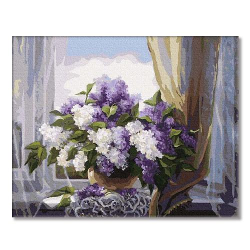 PC4050171 Painting by numbers - Lilacs on the window
