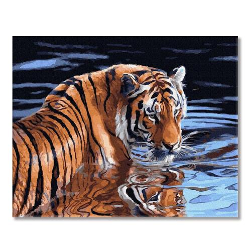 PC4050652 Painting by numbers - Tiger and water