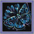 M AZ-1713 Diamond painting kit - Neon butterfly