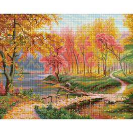 M AZ-1822 Diamond painting kit - Autumn in the old park