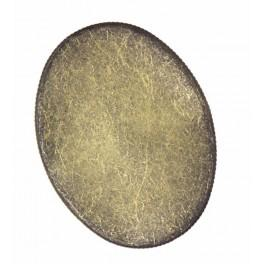 Brooch base oval bronze 30x40mm