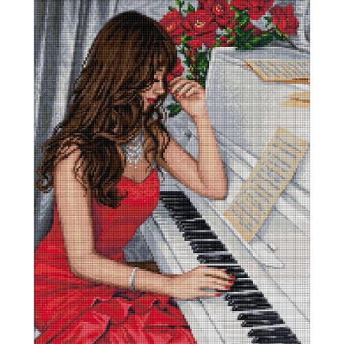 M AZ-1836 Diamond painting kit - Pianist
