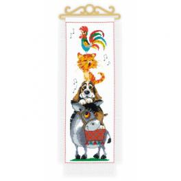 RIO 1862 Cross stitch kit with mouline - Favourite tales