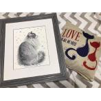 RIO 1912 Cross stitch kit with yarn - Snowy meow