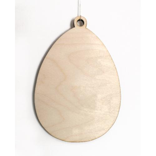 995-01 Wooden pendant - egg 15cm high