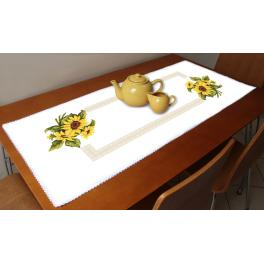 ZU 10451 Cross stitch kit - Table runner with sunflowers