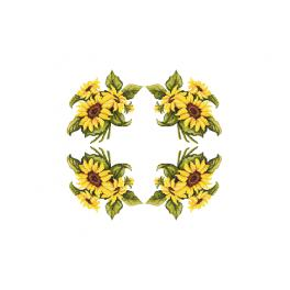 GU 10450 Cross stitch pattern - Tablecloth with sunflowers