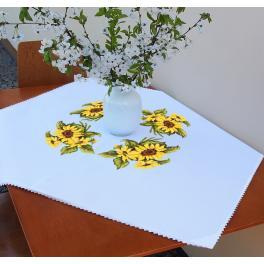 ZU 10450 Cross stitch kit - Tablecloth with sunflowers