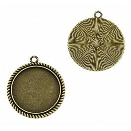 Medallion base round bronze 30mm