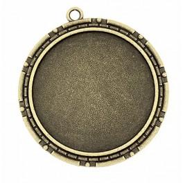 Medallion base round bronze 40mm