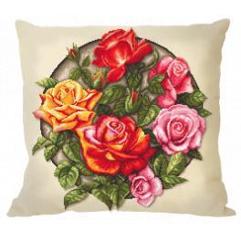 GU 10649-01 Cross stitch pattern - Pillow - Roses
