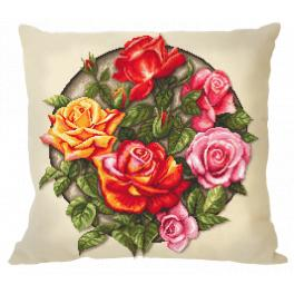 ZU 10649-01 Cross stitch kit - Pillow - Roses