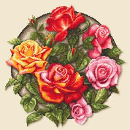 ZN 10649 Cross stitch kit with tapestry - Roses