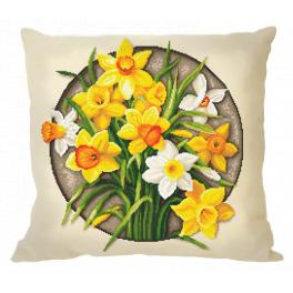 ZU 10647-01 Cross stitch kit - Pillow - Narcissus