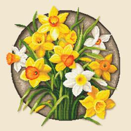 ZN 10647 Cross stitch kit with tapestry - Narcissus