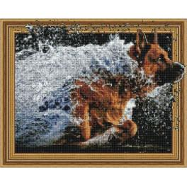 5PD4050043 Diamond painting kit - Joy of the dog