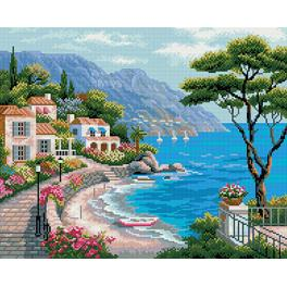 PD4050014 Diamond painting kit - Mediterranean bay