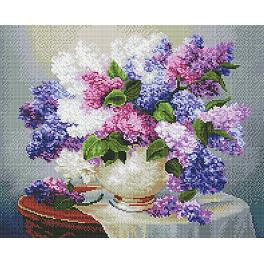 PD4050053 Diamond painting kit - Lilac on the table