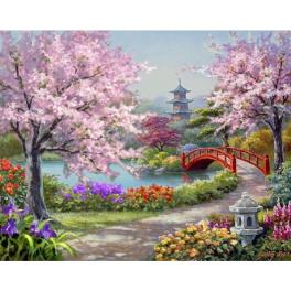 ZTDE 7110 Diamond painting kit - Japanese garden