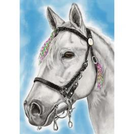 ZTDE 7102 Diamond painting kit - White-maned