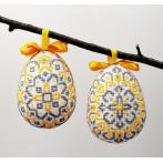 W 10667 Pattern ONLINE pdf - Easter eggs with rosettes