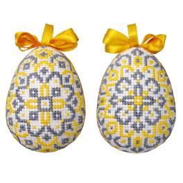 GU 10667 Flower easter egg - Easter eggs with rosettes