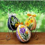 W 10661 Pattern online - Easter egg with crocuses