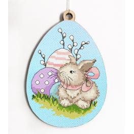 Z 10316 Cross stitch kit - Egg with Easter bunny