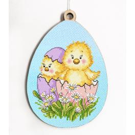 Z 10315 Cross stitch kit - Egg with chicks