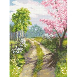 ZN 10311 Cross stitch kit with tapestry - When spring awakens