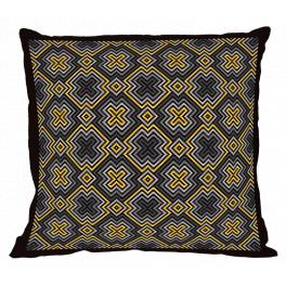 ZU 10670 Cross stitch kit - Geometric pillow