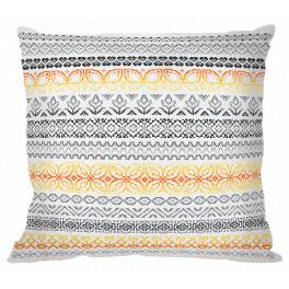 ZU 10669 Cross stitch kit - Pillow with patterns