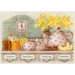 RIO 1873 Cross stitch kit with yarn - Tea time