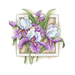 Z 10314 Cross stitch kit - Stately irises