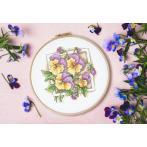 GC 10313 Cross stitch pattern - Lovely pansies