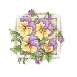 Z 10313 Cross stitch kit - Lovely pansies